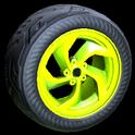 Vortex wheel icon lime