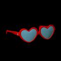 Heart glasses topper icon crimson