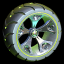 Wrench-Roller wheel icon lime