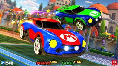 Mario NSR Luigi NSR hero art