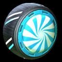 Peppermint wheel icon sky blue