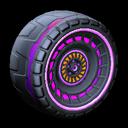 Spiralis wheel icon purple
