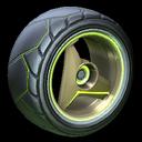 Troika wheel icon lime