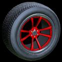 OEM wheel icon crimson
