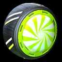 Peppermint wheel icon lime