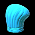 Chefs hat topper icon sky blue