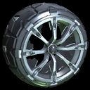 Truncheon wheel icon black