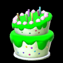 Birthday cake topper icon forest green