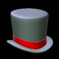 Top hat topper icon crimson