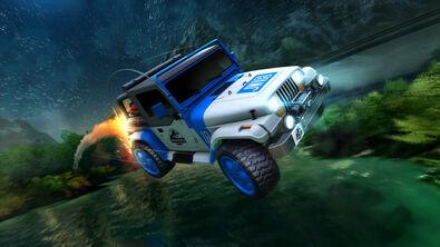 Jurassic Jeep Wrangler hero art