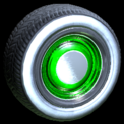 Ratrod wheel icon forest green