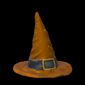 Witchs hat topper icon burnt sienna