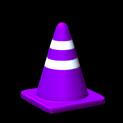 Traffic cone topper icon purple