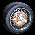 Lowrider wheel icon orange