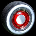 Ratrod wheel icon crimson
