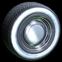 Ratrod wheel icon grey