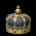 Royal crown topper icon black