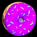 Doughnut wheel icon purple