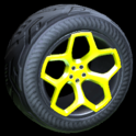 Spyder wheel icon saffron