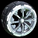 Truncheon wheel icon titanium white
