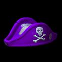Pirates hat topper icon purple