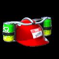 Drink helmet topper icon crimson