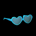 Heart glasses topper icon sky blue