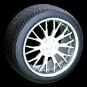 Sunburst wheel icon titanium white