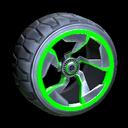 Chakram wheel icon forest green