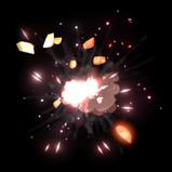 Diecast Spark rocket boost icon