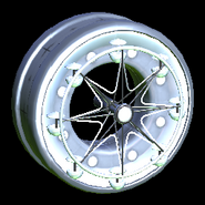 Ferris wheel icon titanium white