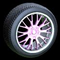 Sunburst wheel icon pink