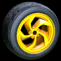 Vortex wheel icon orange
