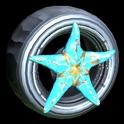 Asterias wheel icon sky blue