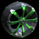 Picket wheel icon forest green