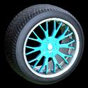 Sunburst wheel icon sky blue