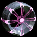 Picket Holographic wheel icon pink