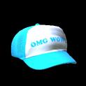 Trucker hat topper icon sky blue