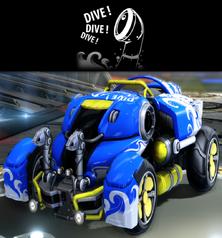 Crash dive decal premium