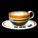 Latte topper icon burnt sienna
