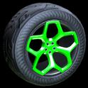 Spyder wheel icon forest green