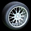 Sunburst wheel icon grey