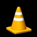 Traffic cone topper icon orange