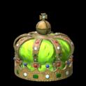 Royal crown topper icon lime