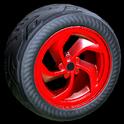 Vortex wheel icon crimson