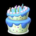 Birthday cake topper icon cobalt