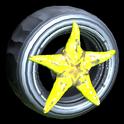 Asterias wheel icon saffron