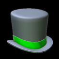 Top hat topper icon forest green