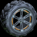 Trahere wheel icon burnt sienna