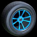 OEM wheel icon sky blue